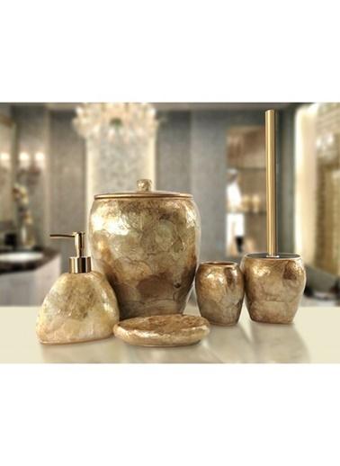 İrya Sedef 5 Parça Banyo Seti Gold Altın